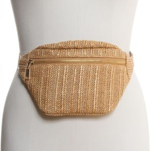 INC International Concepts Straw Fanny Pack Bag
